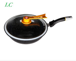 Wholesale CM WOK frying pan without oil vacuum pot boiling cease fire health preservation of maifan stone for minutes