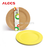 candy dish - Alocs Outdoor Camping Picnic Small Bamboo Plate Tray Round Cake Dishes Home Dining Candy Fruit Snack Plate pratos AL TW