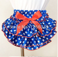 baby star diapers - th of July Baby Bloomer Royal blue White Stars Satin Baby Diaper Cover Baby Short With Satin Bow pc
