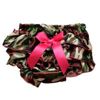 Wholesale Newborn Girl Satin Ruffle PP Pants Baby Kid Leopard Bowknot Bloomers Skirt Hot Selling