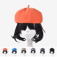 berets - Colors Elegant Women Beret Hat Artist Wool Lapin Newsboy Beanie Fashion Spring Autumn Winter Hat