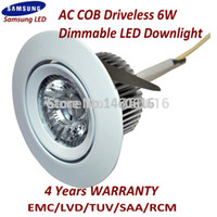 Wholesale High Quality Samsung AC COB degree V Waterpproof IP44 LED Downlight DRIVERLESS led kitchen downlight
