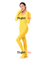 Wholesale colors Jumpsuit Zentai Yoga Costume for women Lycra Spandex Sexy Front Zip Bodysuit Zentai