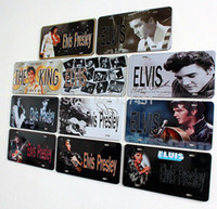 Wholesale Elvis Presley the king of rock and roll vintage metal wall painting metal signs poster home cafe bar wall sticker decoration