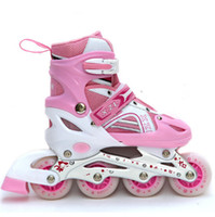 athletic shoe types - Kid s Roller Skates Athletic Roller Shoe For Children PU Material Skating Single Wheels Flash Roller Skates