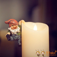 Wholesale Luminara type inch Ivory Realistic Flame Wax Flameless Candle LED Pillar Candle with Timer brand quality