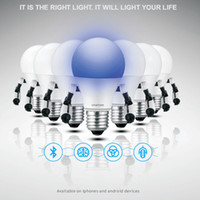 Wholesale Cheap Bluetooth smart bulb A60 E27 W Bulb easily controlled by your smart phone bulbs can be controlled at the same time