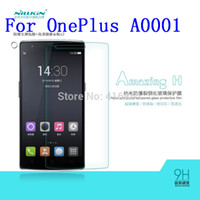 Wholesale NILLKIN Amazing Nanometer H mm Anti Explosion Tempered Glass Screen Protector Film For OnePlus one A0001 OnePlusOne OnePlus1