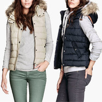 argyle vest womens m - New Womens Autumn Winter Hooded GILET BODYWARMER Ladies Jacket PADDED Fashion Casual Coat Vest Waistcoat Coat with faux fur