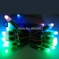 addressable tv - mm Round WS2801 RGB LED Pixel Module IP68 Waterproof DC12V Full Color Addressable Magic TV Background Wall LED Pixel Module