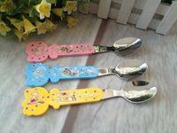 baby feeder spoon - metal baby spoon spoons tableware novelty households small mamadeiras talher infantil feeder garrafa jogo de talheres mamadeira