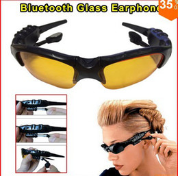 Wholesale-New Sunglasses Sun Glasses Bluetooth Music sunglasses For all Smart Phone PC Tablet Free shipping