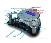 Wholesale Newest LCD Dual Digital Tattoo Power Supply and Permanent Makeup Black amp Silver