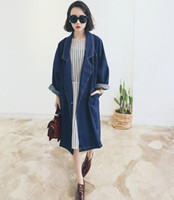 Cheap Wholesale-A Blazer Stylenanda Spring And Autumn Female BF Outwear Long Plus Size Coat Loose Denim Suit Jacket