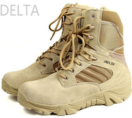 Wholesale Military Tactical Boots Desert Combat Outdoor Army Hiking shoes Botas Shoes Leather delta boot Autumn Ankle military boots