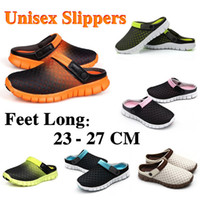 adhesive backed fabric - Summer New Men Slippers Shoes Casual Shoes Mesh Breathable Sandals Unisex Couples Sport Flat Beach Slippers Sandals G0008