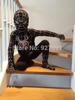 anime costume shop - Free shopping Black spider man costume spiderman suit spider man costume child spider man cosplay