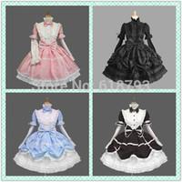 beautiful uniforms - lolita costumes gothic cosplay dress with beautiful bowknots elegant uniform for girls