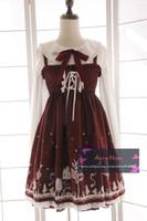 beautiful braces - Beautiful Gothic Lolita dress sleeveless braces skirt for women Cosplay costumes Retro skirts