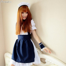 Wholesale Cute Sailor Costumes For Women - Wholesale-New Arrival Cosplay sailor lolita maid costume students Halloween Costumes for Women princess cute girl dress female navy suit