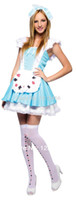 alice blue fancy dress - Direct Selling Shipping Adult Females Costumes New Sexy Alice In Wonderland Cosplay Party Fancy Dress Lolita Maid Outfit