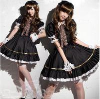 achat en gros de gothique belle-Gros-New Fashion And Beautiful Custom Made Fantaisie manches courtes mi-longueur Costume Coton Gothic Costume Lolita