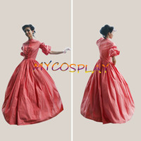 Wholesale Cheap Victorian Dresses Costumes - Wholesale-2015 Cheap Custom Made Civil War Dress Medieval Dress Southern Belle Traditional Dress Victorian Cosplay Costume