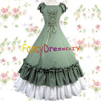 Wholesale Ball Gowns adult southern belle costume Victorian dress Halloween costumes for women lolita dress plus size custom V055