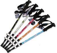 Cheap Wholesale-Hot Sale Walking Cane Trekking Pole Telescope Hiking Stick Mountaineering Climb Ultralight Nordic Walking Stick With EVA handle