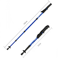 adjustable cane - Outdoor Retractable Adjustable Telescopic Hiking Stick Trekking Walking Pole Cane Trekking Multicolor