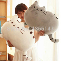Wholesale cm Plush Toy Stuffed Animal Doll Talking Animal toy Pusheen Cat For Girl Kids Kawaii Cute Cushion Brinquedos