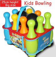big plastic bowls - bottle and ball Big size ABS safety kids child children Bowling gutterball TECMO BOWL ball toys indoor sports play
