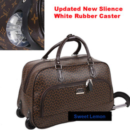 Wholesale Best Quality PU Leather Wheeled Carry On Travelling Trolley Luggage Bag For Business Men And Women