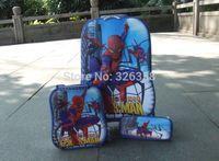 Wholesale Kids School Bag Trolley Bags Boys Spiderman D Travel Luggage Pencil Case Set Inch Superhero Travel Luggage Suit