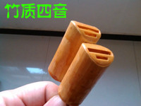 Cheap Wholesale-Four kinds of sound, bamboo material pigeon tail whistle