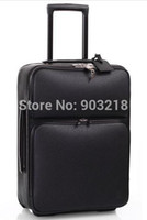 bar luggage - Top Grade ROLLING LUGGAGE TRAVEL WHEEL SUITCASE Draw Bar Travel Case In Black Taiga Leather