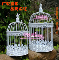 Wholesale European style iron bird cage ground white cage Furnishing articles window decoration Birdcage Wedding props