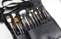 bags for makeup artists - For Makeup Artist Special Brushes Capacity Waist Bag Portable PU Casual Solid Cosmetic Cases