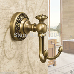 wholesale free shipping wholesale and retail high end bath robe hooks coat towel utility hooks antique brass finished antique brass coat hooks for sale brass coat hook pieces