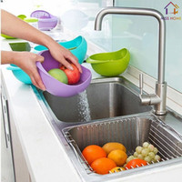 Wholesale Plastic Kitchen Tools Storage Boxes Plastic Strainer Salad Bowls MH