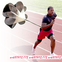 athletic speed training - Men Jogging Suit Speed Training Parachute Adjustable Running Umbrella Ball Fitness Athletics Power Devicefree Of Charge
