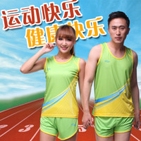 Wholesale summer style Dragon Boat race track suit male sports clothes Athletics exam Training Wear breathable fabrics couple mod