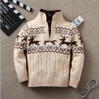 Wholesale Retail boy winter autumn infant baby Cartoon sweater boy girl child turtleneck sweater children outerwear sweater child clothing