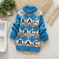 age knitted clothing - autumn winter baby girls boys new styles round collar knitting sweater long sleeve children sweater kid clothing ages