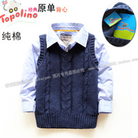 Others baby sweater vests - Baby autumn and winter male child vest baby sweater top casual sleeveless fashion vest