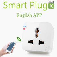 Wholesale Kankun Wifi Smart plug socket outlet V EU AU UK Kankun small k1 electrical socket to remote control by english app