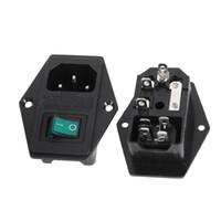 ac power socket fuse - Green Lamp Rocker Switch Fuse Holder IEC C14 Inlet Power Socket AC V Discount