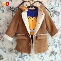 al por mayor ad marrón-Escudo calidad de la manera Cordero ante marrón Snowproof Little Boy chica con capucha mayor-AD infantil invierno Outwear la Fosa de 2-10