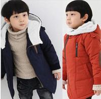 Wholesale New Korean style baby boys girls winter warm jacket thicken cotton padded coat fleece inside kids outerwear