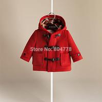 b boy jacket - New Fashion B Design Horn Children Coats Fall Winter Boy Girl s Wool Outerwear Kid s Hoodie Jacket color